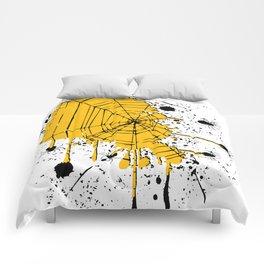 Spiderweb spiders ink splash Comforters