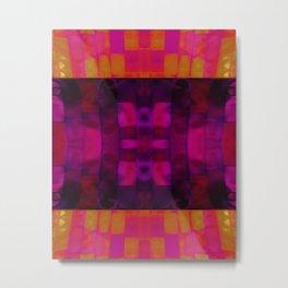 foiled metal tiles Metal Print