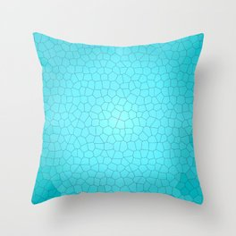 Glare on the water. Abstract Stained glass blue Throw Pillow