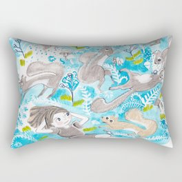 The Meadow Refuses No Squirrel Rectangular Pillow