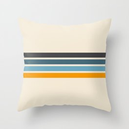Vintage Retro Stripes Throw Pillow