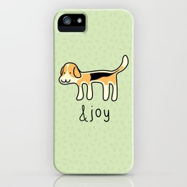 Cute Beagle Dog &joy Doodle iPhone Case