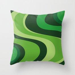 70's Green Vibe Throw Pillow
