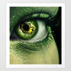 Kiwi Eye Art Print