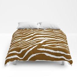 Zebra Brown and White Comforters