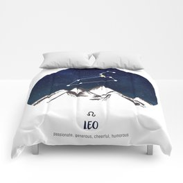 Astrology Leo Zodiac Horoscope Constellation Star Sign Watercolor Poster Wall Art Comforters