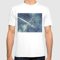 Abstract Bark White MEDIUM Mens Fitted Tee