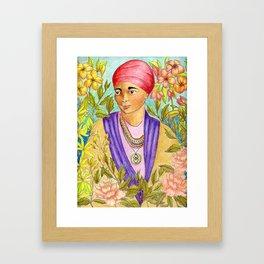 Woman With Adinkra Framed Art Print