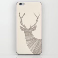 Stag / Deer (On Beige) iPhone & iPod Skin