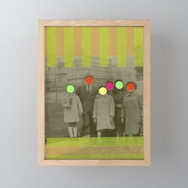 Fluo Family Framed Mini Art Print