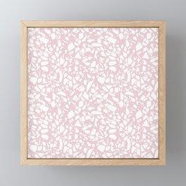 Terrazzo Spot 2 Blush Framed Mini Art Print