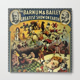 1890 Barnum and Bailey Greatest Show on Earth A Child's Dream Vintage Poster Metal Print