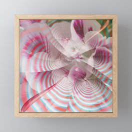 Flower with a magical striped texture Framed Mini Art Print