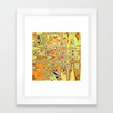 Converging Continents Framed Art Print