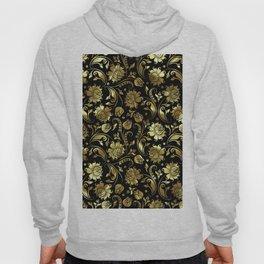 Black & Gold Foil Floral Damasks 3 Hoody