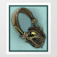 HEAD PHONE Art Print