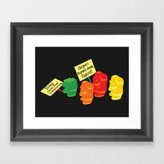 Stop Gummibear Cruelty! Framed Art Print