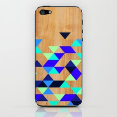 Geometric Blue Polygons iPhone & iPod Skin