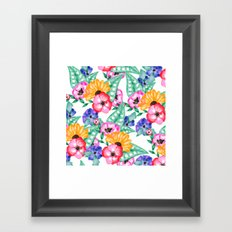 Modern hand painted floral watercolor floral bouquet Framed Art Print