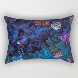 Space Garden Cosmos Rectangular Pillow