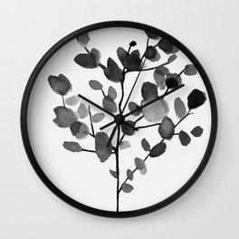 Watercolor Leaves II Wall Clock
