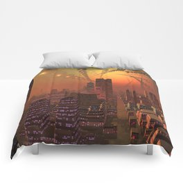 Spherople Alien City Comforters