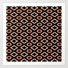 Browns Geometric PAttern Art Print