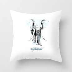 elephantidae Throw Pillow