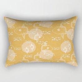 Mola Mola Yellow-Ocean sunfish Rectangular Pillow