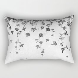 Hand Printed Black and White Trailing Ivy Rectangular Pillow