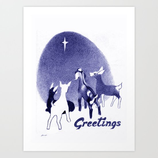 Christmas in the Stable Art Print