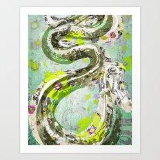 Garden Snake Commons Art Print