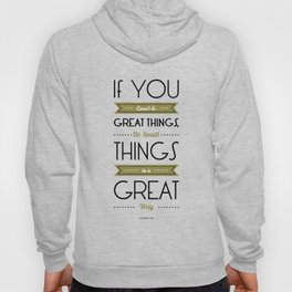 Lab No. 4 - Do Small things in a great way Napoleon Hill Motivational Quotes Poster Hoody