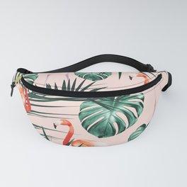 Tropical Flamingo Pattern #2 #tropical #decor #art #society6 Fanny Pack