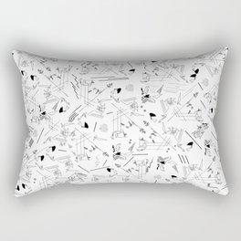 Smash White Rectangular Pillow