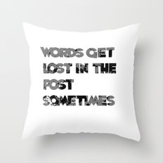 words. Throw Pillow