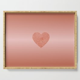 English Rose Ombre color HEART Serving Tray
