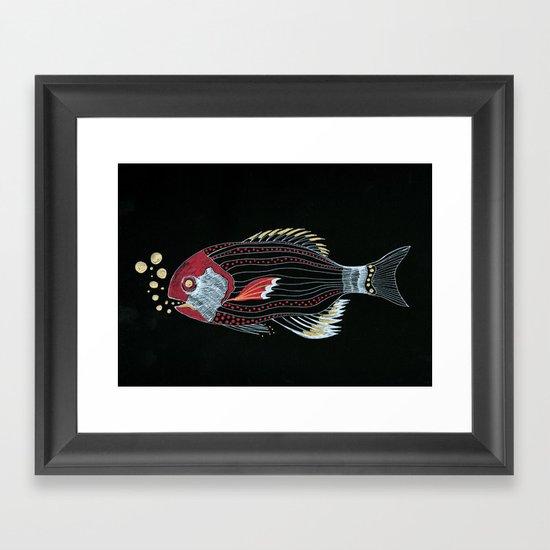 Happy New Fish  Framed Art Print
