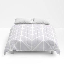 Herringbone Chevron (Gray) Comforters