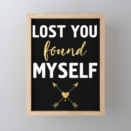 LOST YOU FOUND MYSELF - Love Boho Quote Framed Mini Art Print