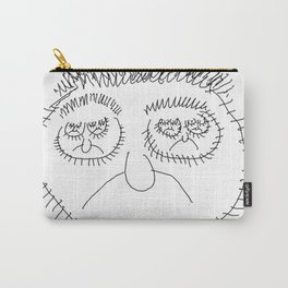 Fractal face Carry-All Pouch