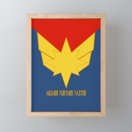 Higher, further, faster! Framed Mini Art Print