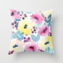 Tropical Poppies Throw Pillow