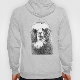 Black and White Alpaca Hoody