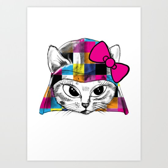 Darth Kitty Art Print