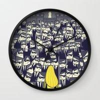 ale giorgini Wall Clocks featuring Crazy 88 by Ale Giorgini