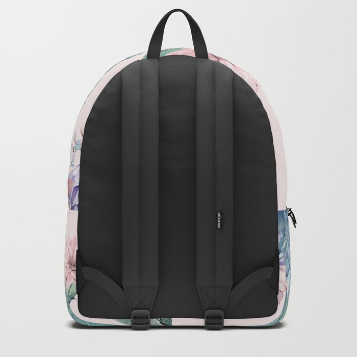 Desert Gemstone Oasis Light Pink Backpack