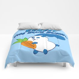 Ernest the blue bunny Comforters