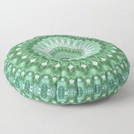 Emerald Green Mandala Floor Pillow