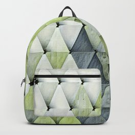 Textured Triangles Lime Gray Backpack